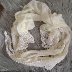 Accessories - NWOT   Sheer Lace Scarf OS